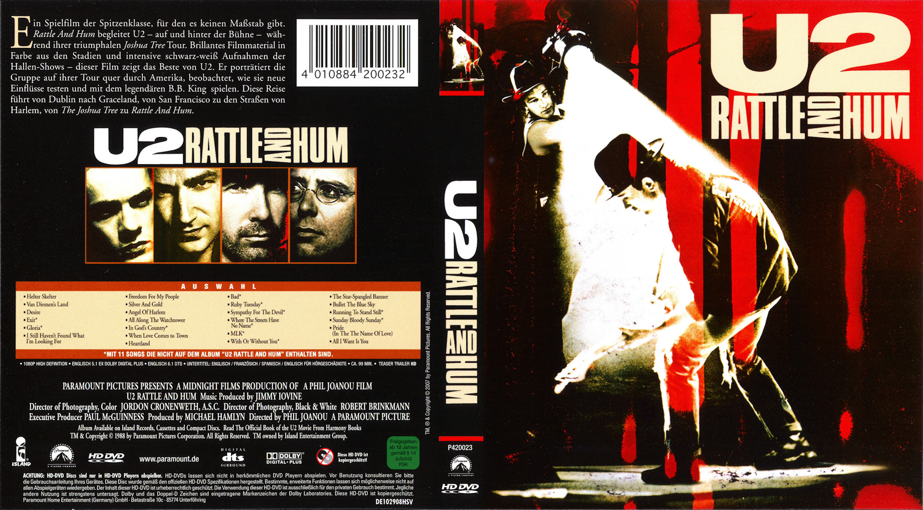 U2 - rattle and hum at discogs