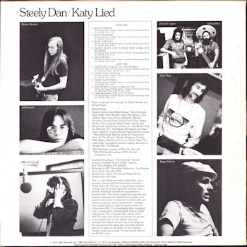 Steely Dan, Katy Lied Full Album Zipgolkes