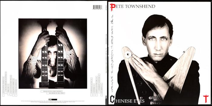 Entertainment Memorabilia Pete Townshend Chinese Eyes Original 1982 Atco Records Promo Poster!! Fast Color