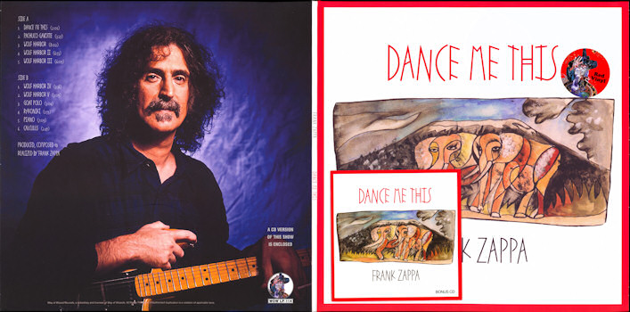 Frank Zappa Official Release 100 Dance Me This Wolf S
