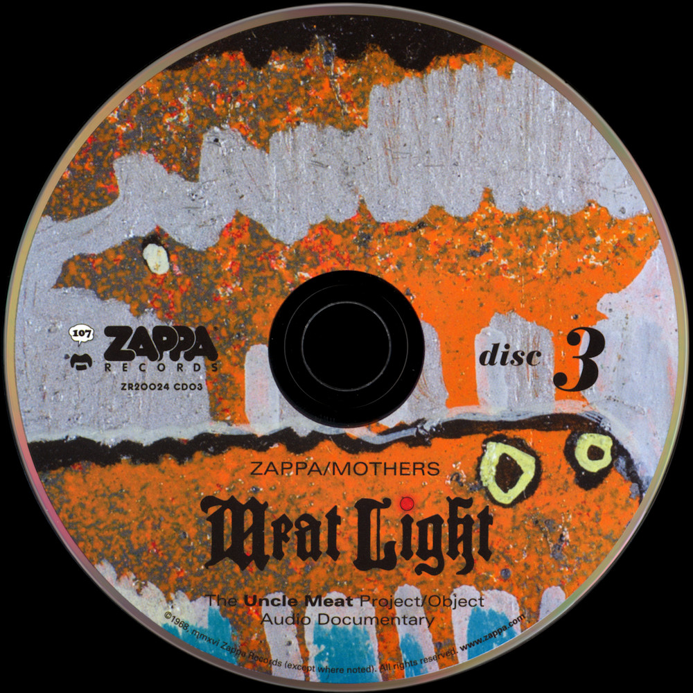 Frank Zappa Official Release 107 Meat Light The Uncle